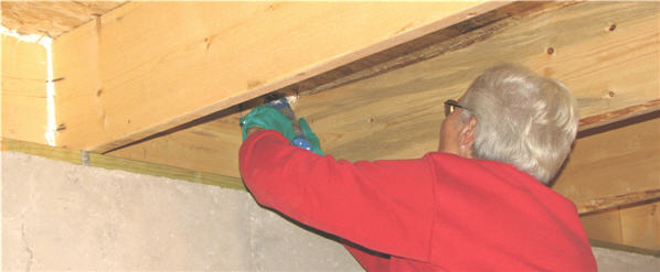 Floor and crawl space insulation for Floor joist insulation